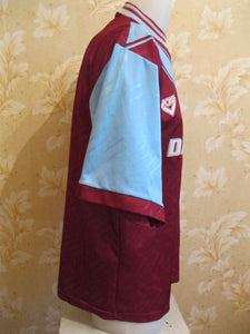 "West Ham United 1993/1994/1995 Home Size 38/40"" Pony jersey"