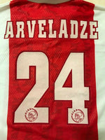 Load image into Gallery viewer, Ajax Amsterdam #24 Arveladze 1998/1999 home Size L Umbro jersey