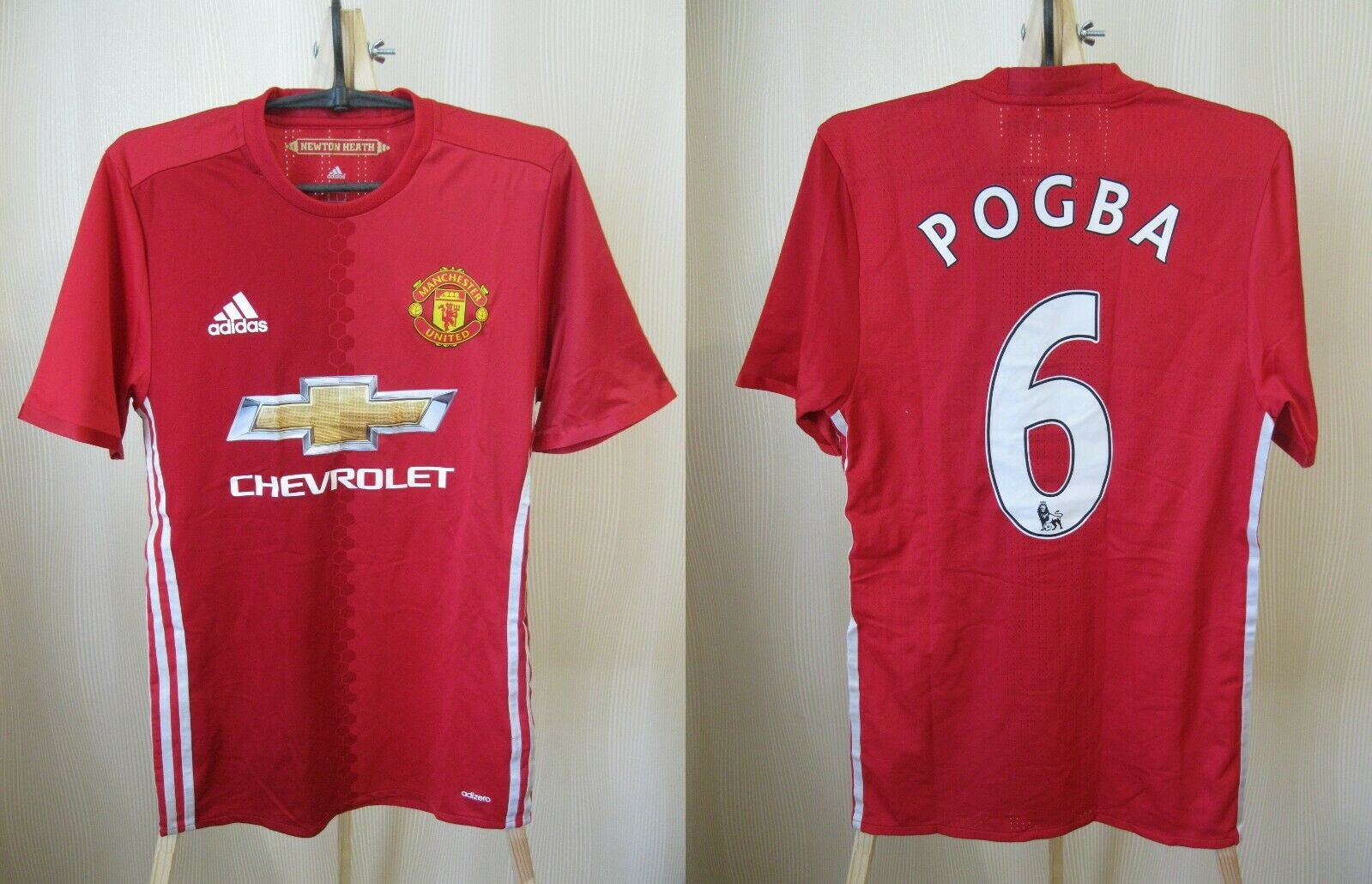 Manchester United #6 Pogba 2016/2017 Home S Adidas AI6719 jersey