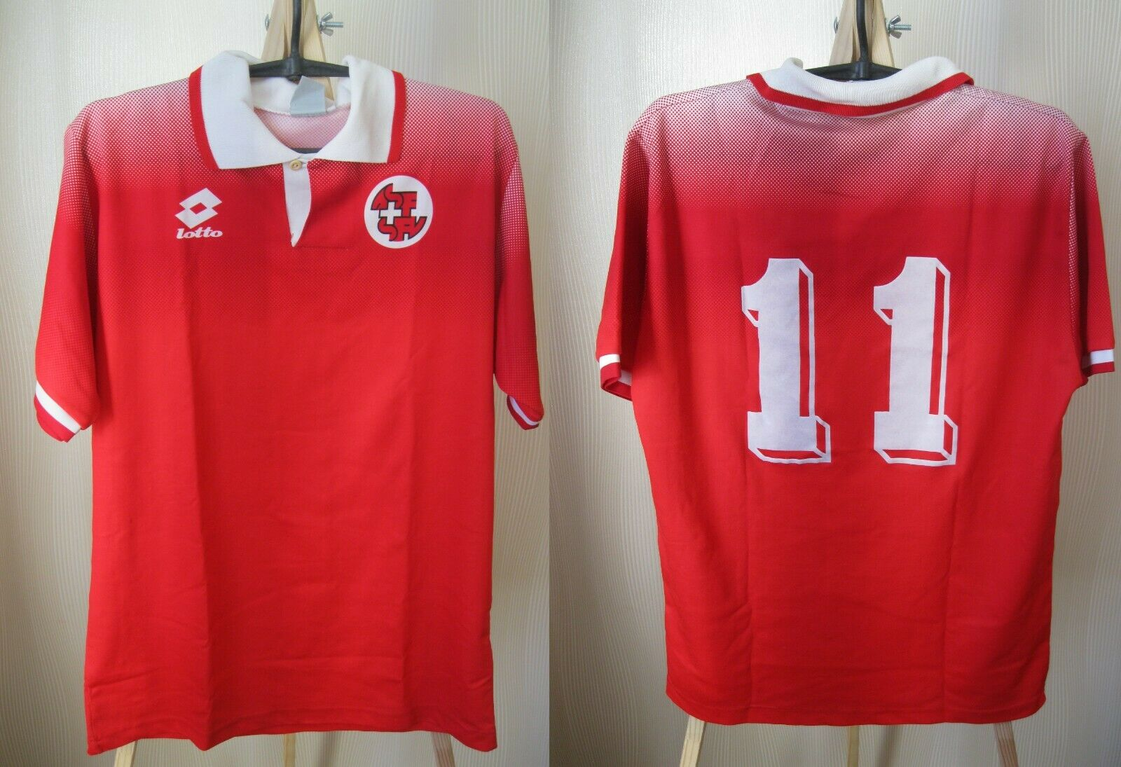 Switzerland team 1994/1995/1996 home Size S Lotto jersey