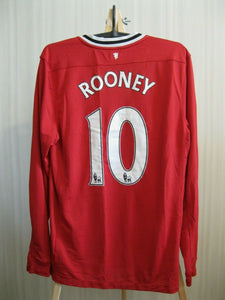 Manchester United #10 Rooney 2011/2012 Size M Home Nike 423933-623 jersey