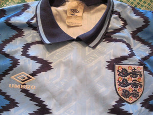 England national team #1 Goalkeeper 1992/1993 Size S Umbro jersey