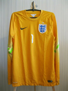 England national team #1 2014/2015 Goalkeeper Size S Nike 588106-716 jersey