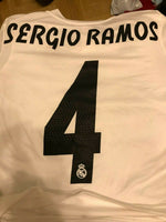 Load image into Gallery viewer, Kids Real Madrid #4 Sergio Ramos 2018/2019 home Size M Adidas CG0554 jersey