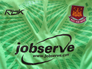 West Ham United 2006/2007 Goalkeeper Size L Reebok jersey