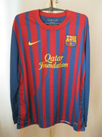 Load image into Gallery viewer, FC Barcelona #5 Puyol 2011/2012 home Size XL Nike jersey