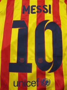 Ladies FC Barcelona #10 Messi 2013/2014 away Size M Nike 532833-703 jersey