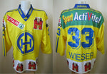 Load image into Gallery viewer, HC Davos #33 Wieser Size M Adidas Ice Hockey jersey