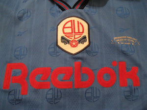 RARE Bolton Wanderers 1995/1996/1997 SPECIAL Away Size 38/40 Reebok jersey