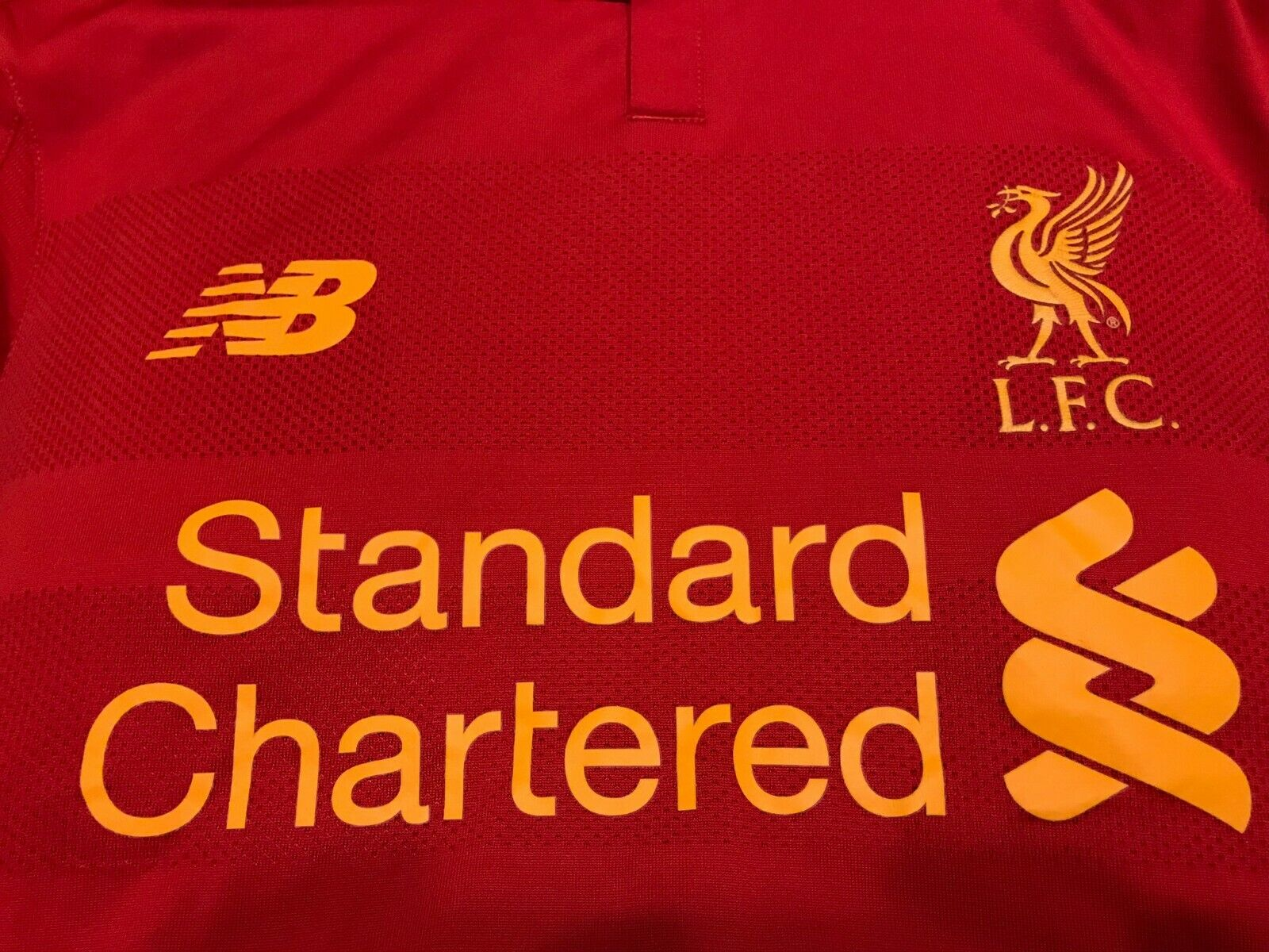FC Liverpool 2016/2017 Home Size L New Balance jersey