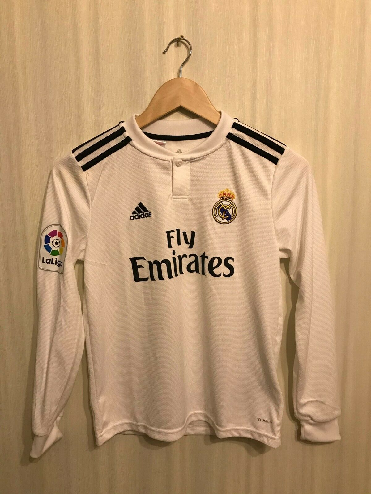 Kids Real Madrid 2018/2019 home Size M Adidas CG0546 jersey