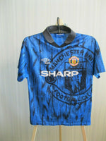 Load image into Gallery viewer, Kids Manchester United 1992/1993 away Size L Umbro jersey