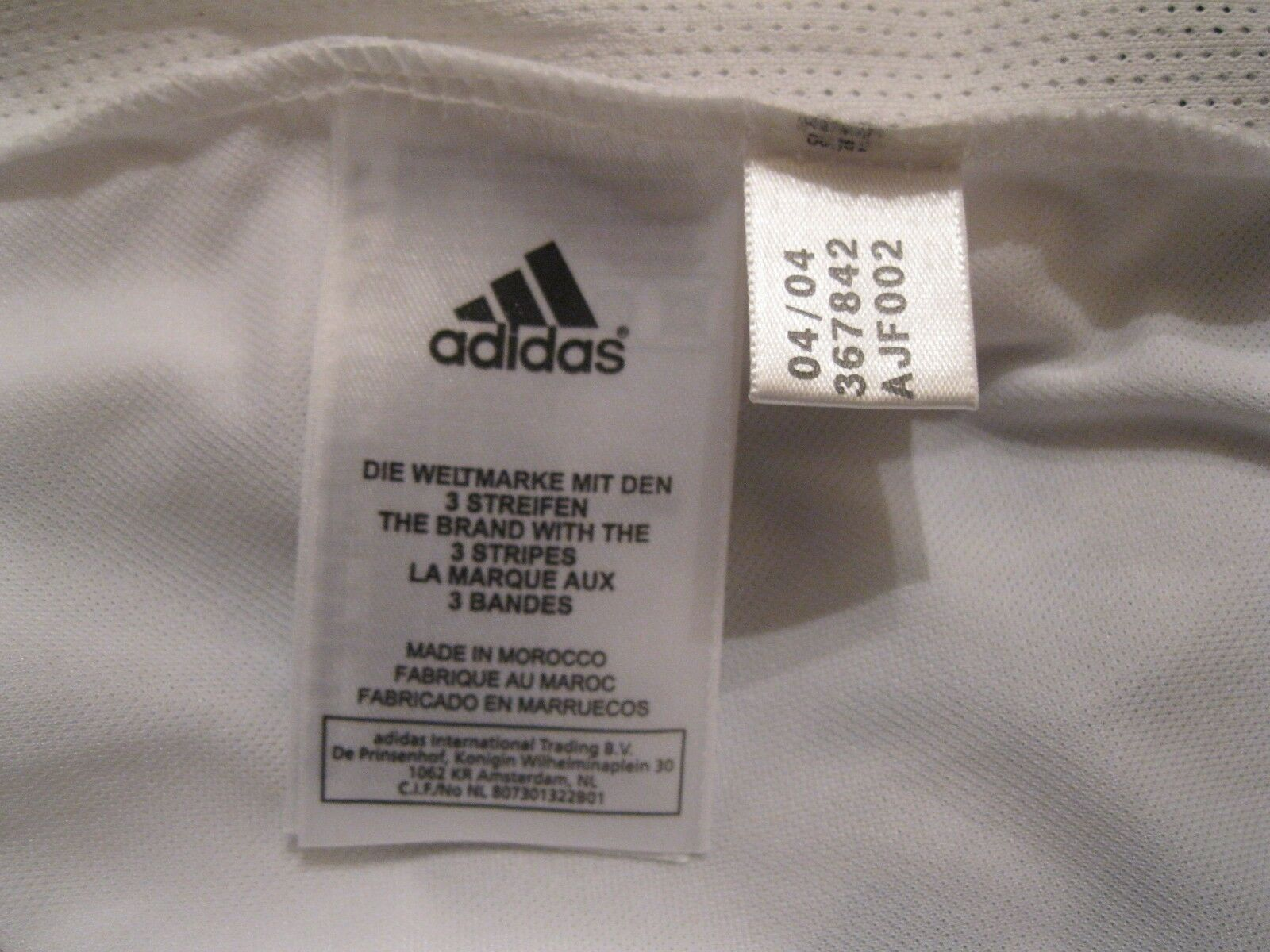 Real Madrid 2006/2007 home Size XL Adidas 367842 jersey Zidane Ronaldo era