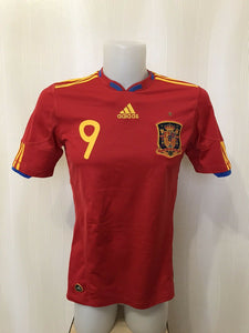Spain national team #9 Torres 2010/2011 home Adidas P47902 Size S jersey
