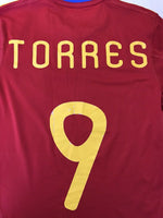 Load image into Gallery viewer, Spain national team #9 Torres 2010/2011 home Adidas P47902 Size S jersey