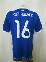 Load image into Gallery viewer, Argentina team #16 Kun Aguero 2009/2011 away Size L Adidas jersey