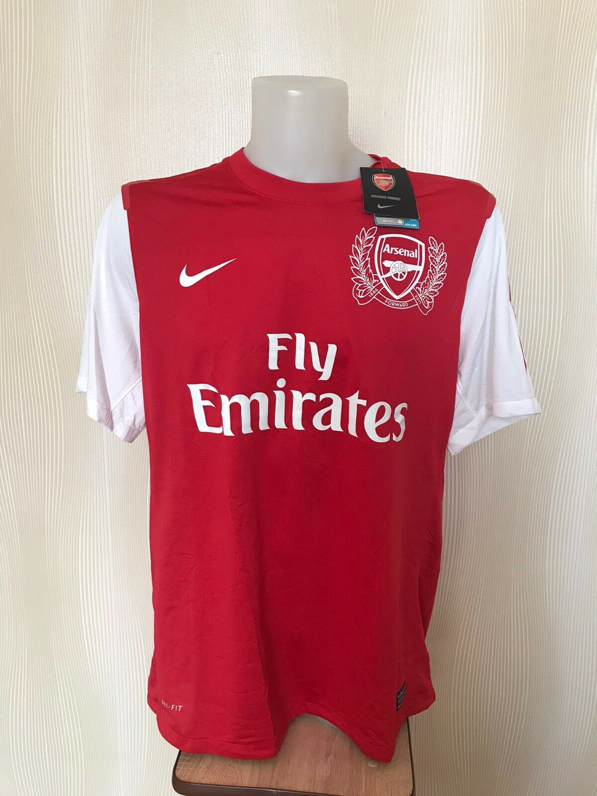 Arsenal London 2011/12 Home 2XL Nike 423978-620 AUTHENTIC jersey