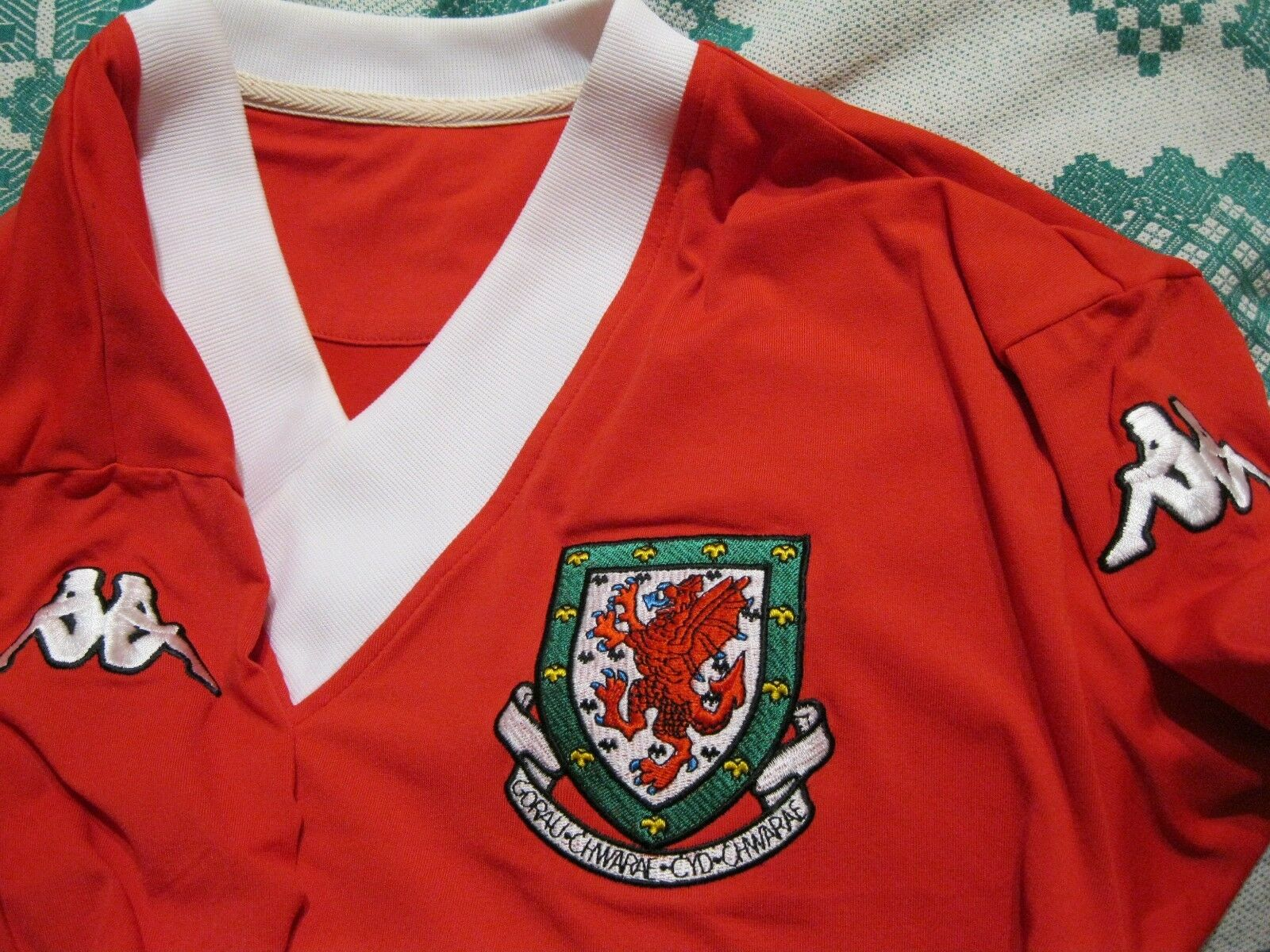 Wales national team 2006/2007 home Size XL Kappa jersey