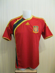 Spain national team #7 David Villa 2009/2010 home Size L Adidas p06574 jersey