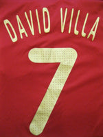 Load image into Gallery viewer, Spain national team #7 David Villa 2009/2010 home Size L Adidas p06574 jersey
