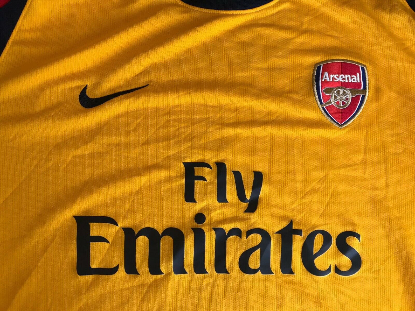 Arsenal London #4 Fabregas 2008/2009 Away Size 2XL Nike jersey