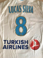 Load image into Gallery viewer, Olympique Marseille #8 Lucas Silva 2015/2016 Home Size L Adidas S11891 jersey