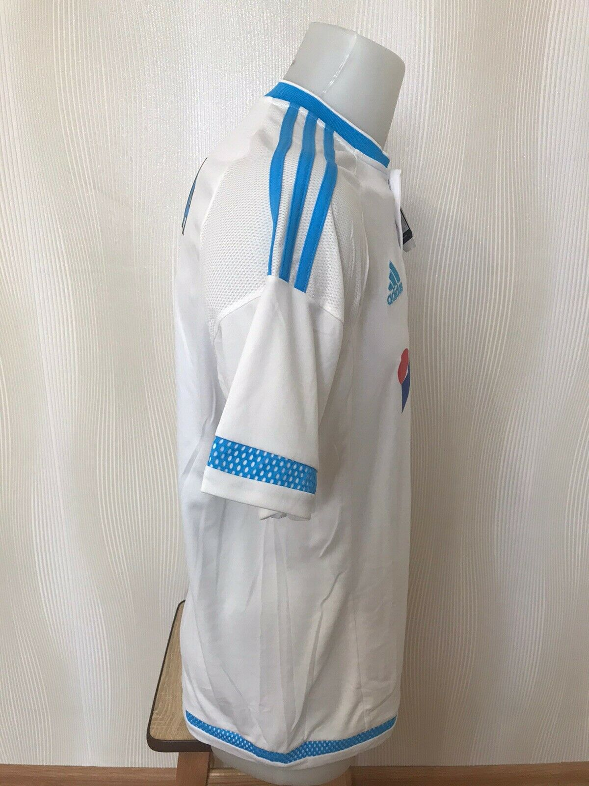 Olympique Marseille #8 Lucas Silva 2015/2016 Home Size L Adidas S11891 jersey
