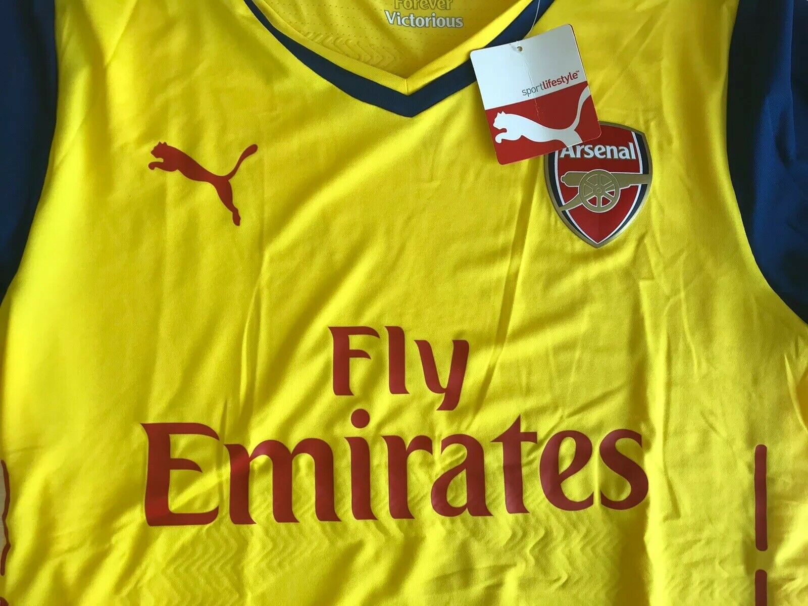 AUTHENTIC Arsenal London 2014/2015 away Size 2XL Puma jersey