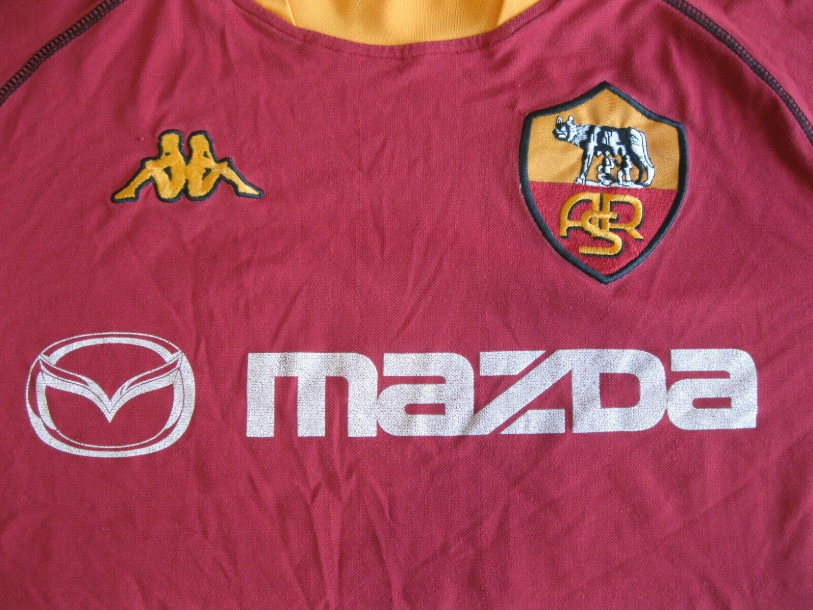AS Roma 2002/2003 Home Size 2XL Kappa jersey
