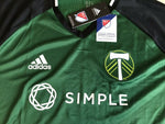 Load image into Gallery viewer, AUTHENTIC Portland Timbers 2015/2016 home Size XL Adidas Adizero AC0109 jersey