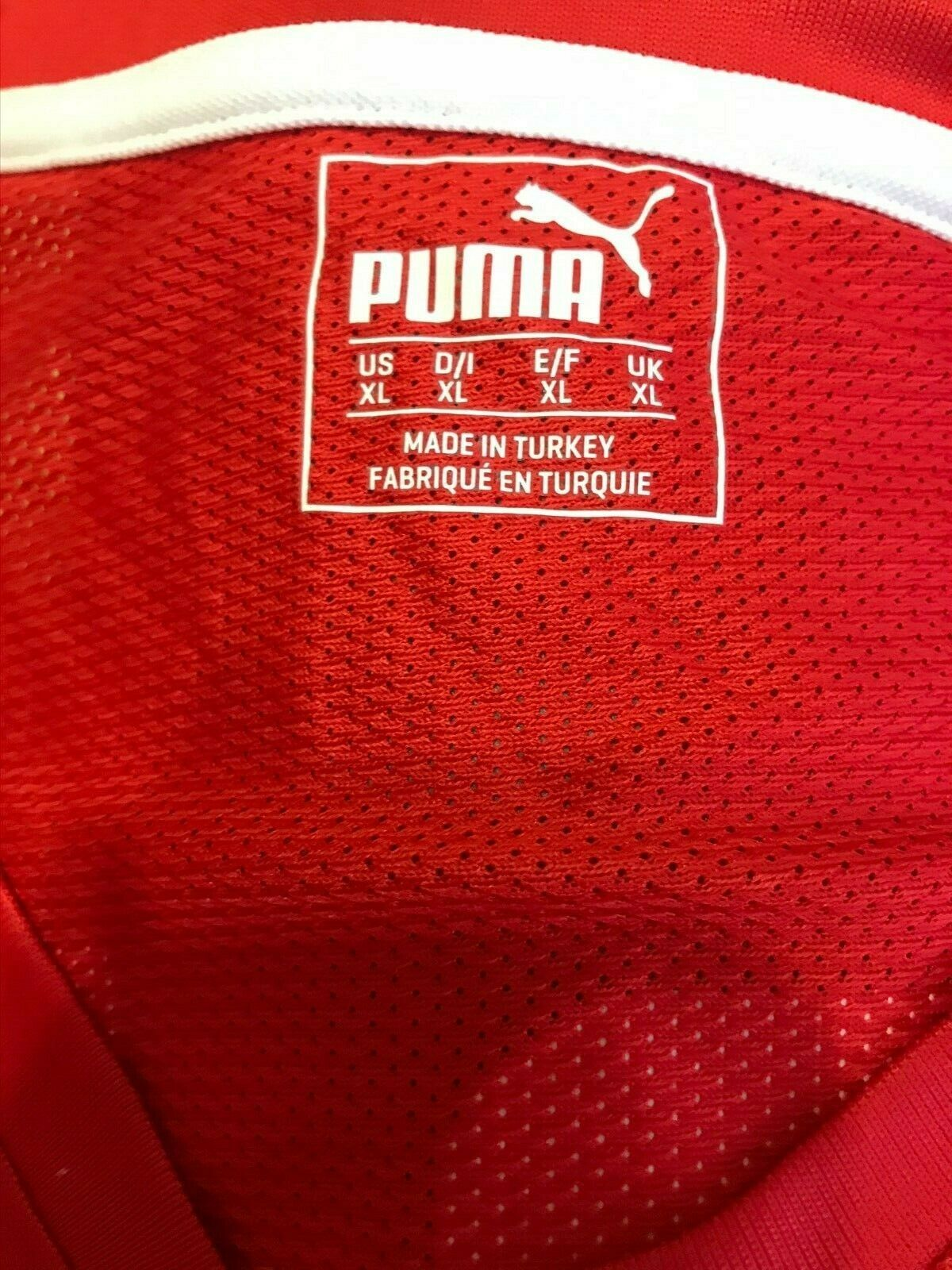 Danish Handball Federation #21 Size XL Puma 702070 jersey