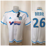 Load image into Gallery viewer, Olympique Marseille #26 Djedje 2015/2016 Home Size L Adidas S11891 jersey