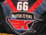 Load image into Gallery viewer, EHC Kloten Flyers #66 Rueger 2009/2010 MATCH WORN Jako Size XL jersey
