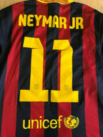 Load image into Gallery viewer, FC Barcelona #11 Neymar 2013/2014 home Size S Nike 532822-413 jersey
