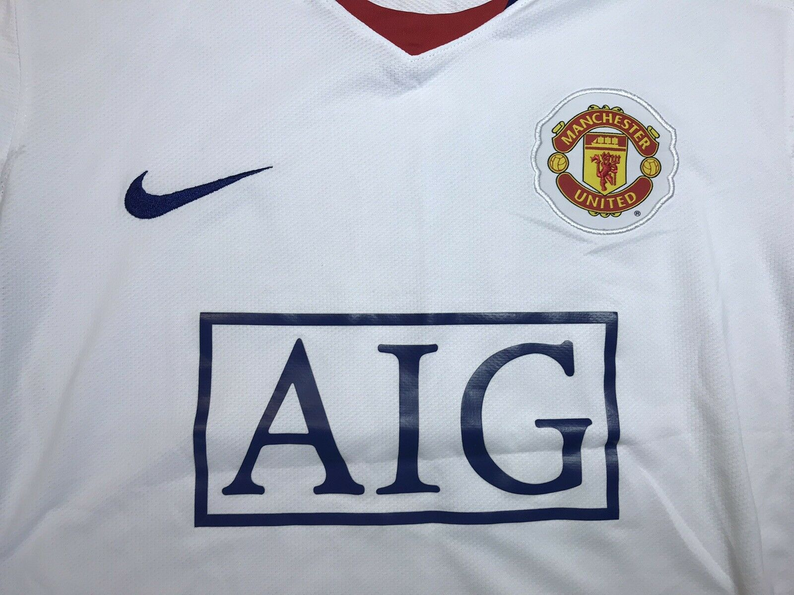 Manchester United #8 Anderson 2008/2009/2010 away/3rd Size M Nike 287611-105 jersey