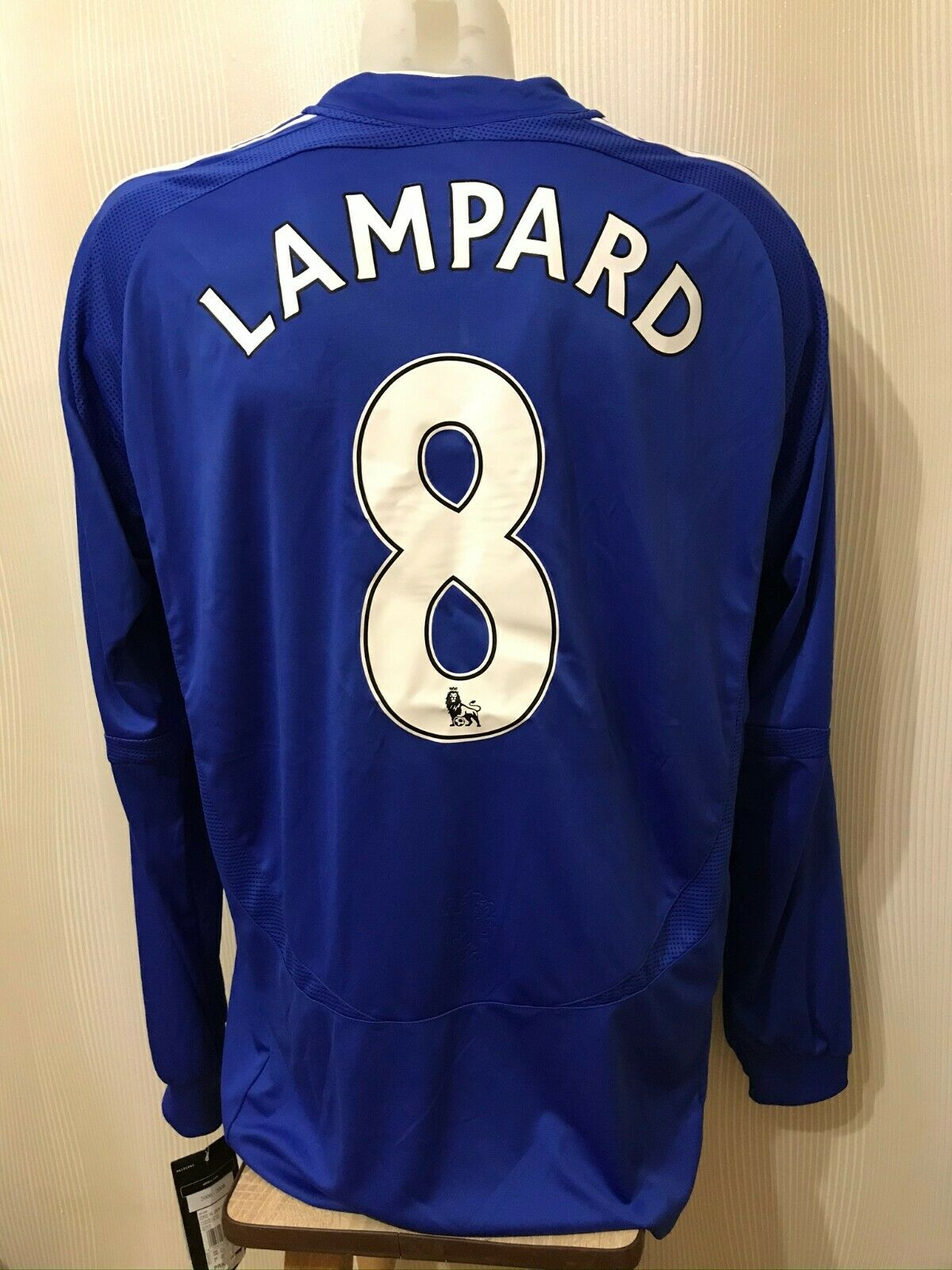 Chelsea London #8 Lampard 2006/2007/2008 Home 2XL Adidas 061228 jersey