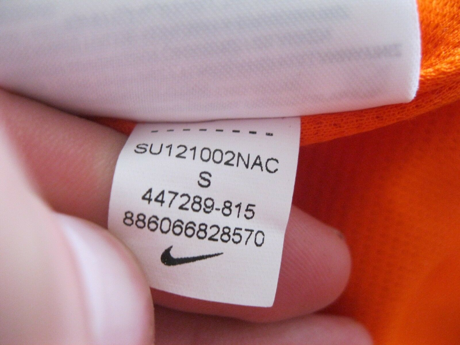Netherlands 2012/2013/2014 home Size S Nike 447289-815 jersey