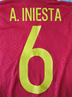 Load image into Gallery viewer, Spain 2015/2016 #6 A. Iniesta Home Size XS Adidas AI4411 jersey