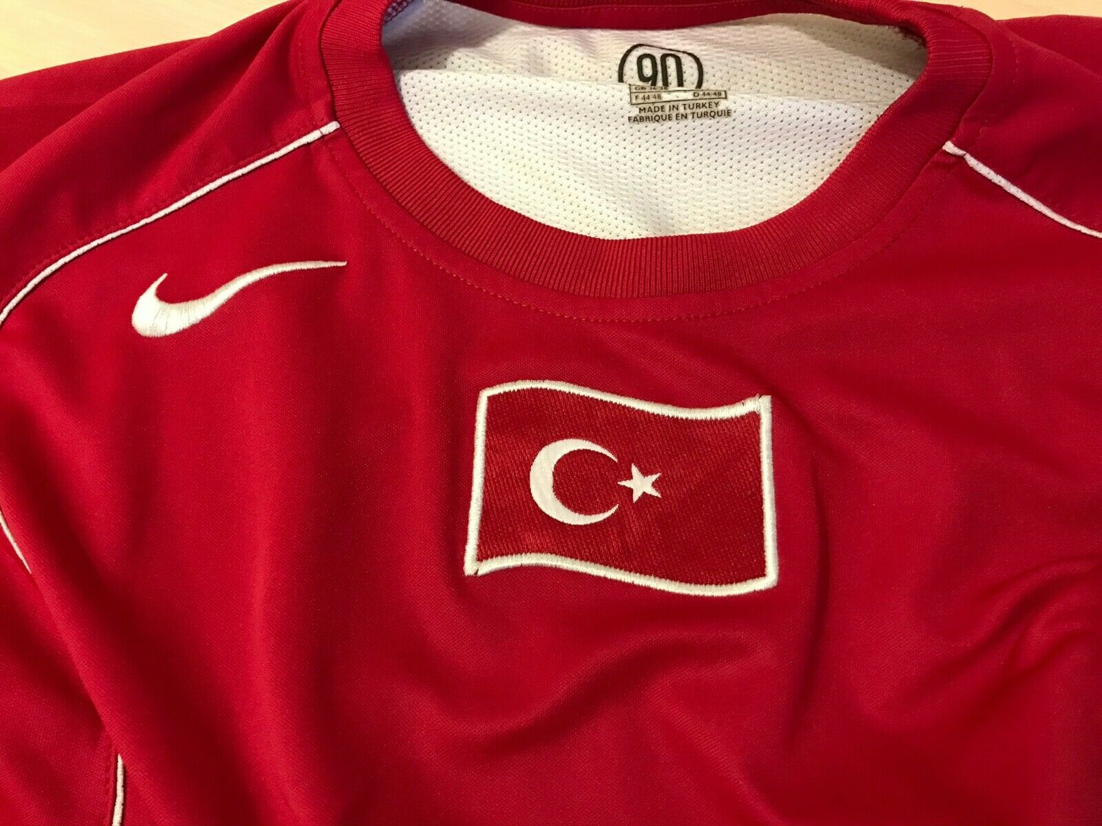 Turkey team 2004/2005/2006 Away Size S Nike jersey