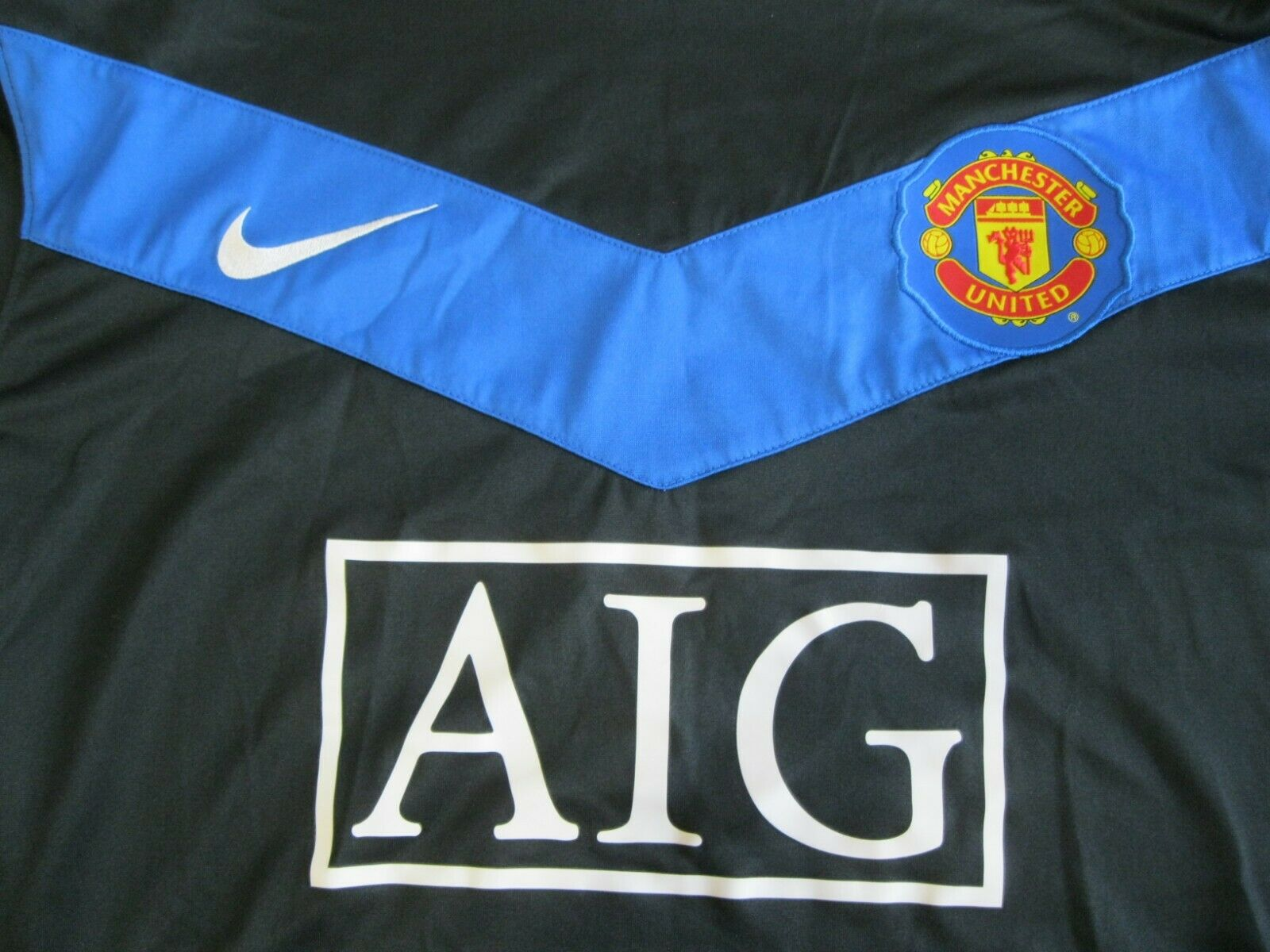 Manchester United 2009/2010/2011 #7 Nicky Away/3rd Size XL Nike 355093-010 jersey