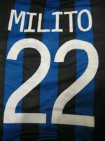 Load image into Gallery viewer, Inter Milan #22 Milito 2011/2012 home Size M Nike 419985-010 jersey