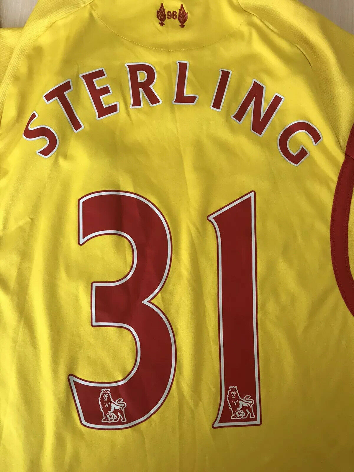 FC Liverpool #31 Sterling 2014/2015 Away Size S Warrior jersey