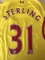 Load image into Gallery viewer, FC Liverpool #31 Sterling 2014/2015 Away Size S Warrior jersey