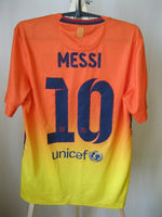 Load image into Gallery viewer, FC Barcelona #10 Messi 2012/2013 away Size S Nike 478326-815 jersey