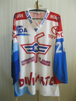 Load image into Gallery viewer, SIGNED EHC Kloten #20 Pavoni 1994/1995 MATCH WORN Size L jersey