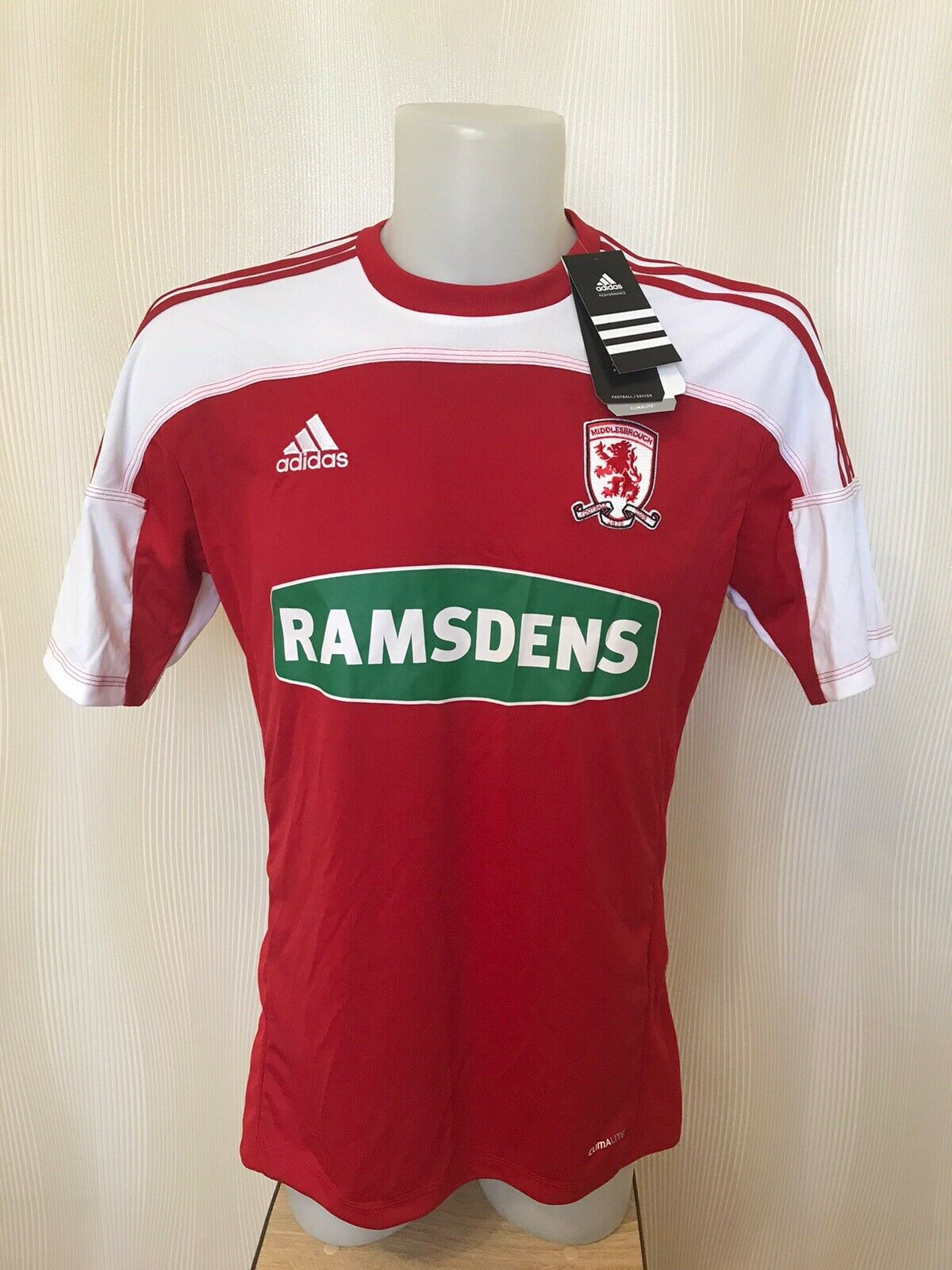FC Middlesbrough 2011/2012 home Size S Adidas O56911 jersey
