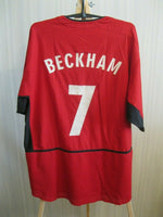 Load image into Gallery viewer, Manchester United 2002/2003/2004 #7 Beckham Home Size XL Nike jersey