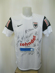 SIGNED FC Aarau 2012/2013 Home Size L Nike 413138-100 jersey