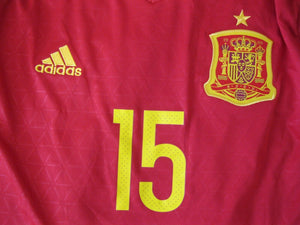 Spain team #15 Ramos 2016/2017 Home Size L Adidas AL4411 jersey