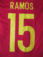 Load image into Gallery viewer, Spain team #15 Ramos 2016/2017 Home Size L Adidas AL4411 jersey